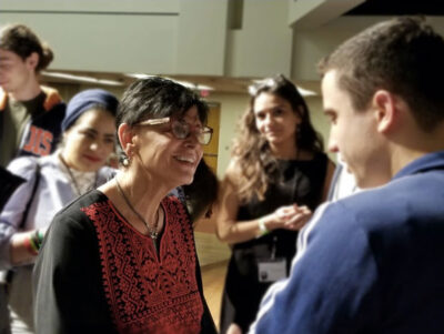 Dr. Rabab Abdulhadi at the 2019 Students for Palestine conference.